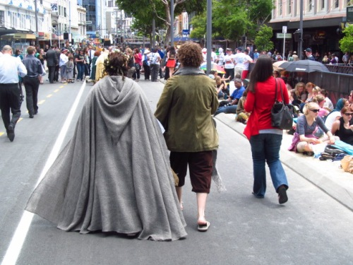 Proud Hobbit couple
