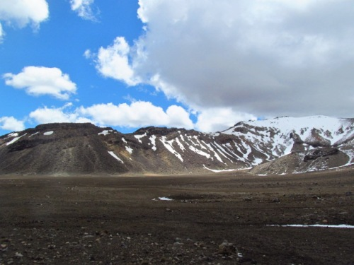Along the first crater