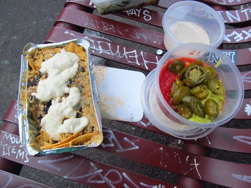 Veggie Bar: Nachos and Tahini Tempeh