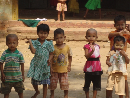 Some of the cutest kids I've ever come across, Mandalay.