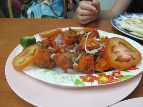 Something called (rather mysteriously) 'Vege 65': spicy little vege fritters.