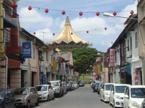 The mean streets of Kuching.
