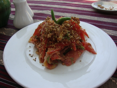 The best tomato salad in Myanmar. And, I imagine, the world.