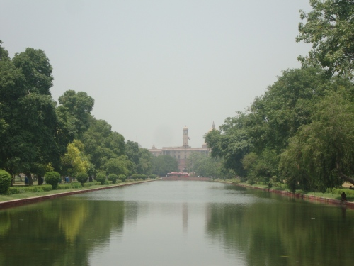 The Parliament Complex, viewed from Rajpath