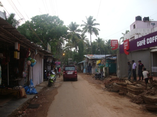 The 'main drag' of Palolem