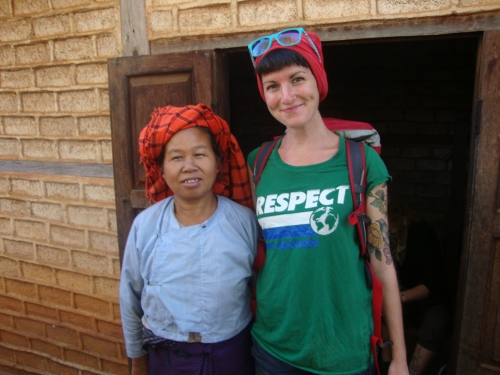 Hanging with our gracious host on the Kalaw - Inle Lake