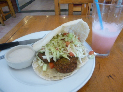 Paprika's Falafel - With Shake, 100 Baht/ 3 USD