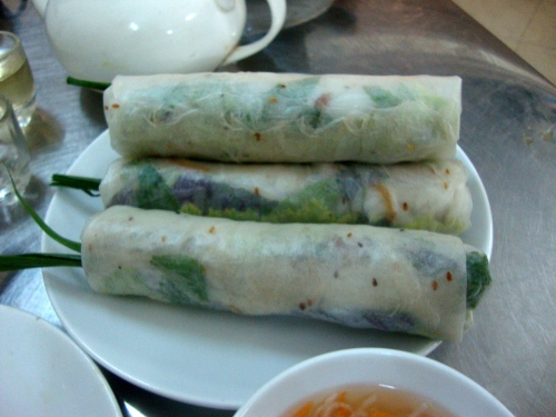 The best fresh spring rolls in Vietnam. And, I can only assume, the world.
