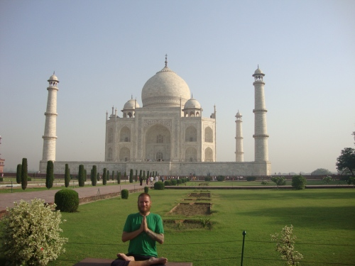 Chilling at the Taj