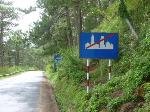 Vietnam Road Sign