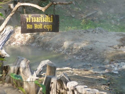 Pai Hot Springs.  Bossy.