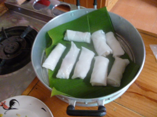 Finished Spring Rolls, of assorted quality