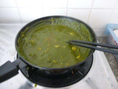 Palak Paneer (Tofu) Cooking