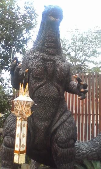 Godzilla, on his eponymous street