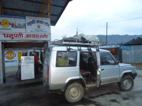 Refueling Jeep