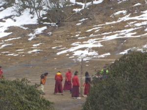 Monks playing vball