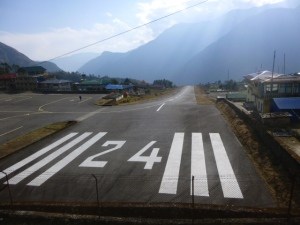 The infamous Lukla airport