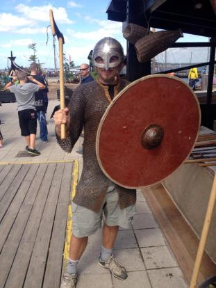 Viking in cargo shorts