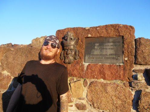 Historical monument--11 pm