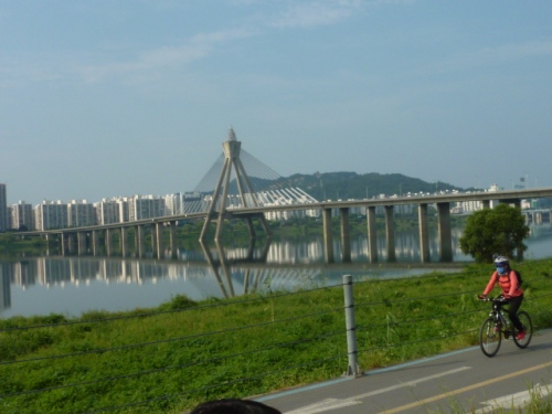 Biking on the Han River